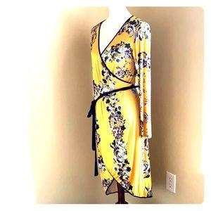 Long sl Flower Dress